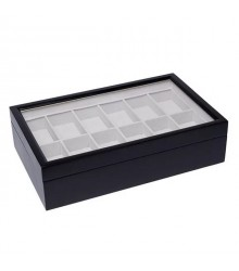 Óratartó doboz 12 óra számára - Fekete