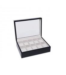 Óratartó doboz 10 óra számára - Fekete