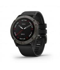 Garmin fenix 6X Pro Sapphire Carbon DLC szürke, fekete szilikon szíjjal