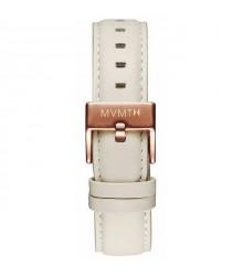 MVMT bézs bőr szíj (rózsaarany csat) - 18 mm
