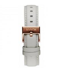 MVMT szürke bőr szíj (rózsaarany csat) - 18 mm