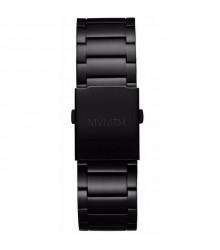 MVMT fekete fém szíj (fekete csat) - 24 mm
